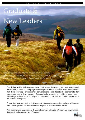 Motion Coaching Gradaute and New Leader Course