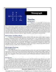 Taurine Monograph - LifeTime WeightLoss