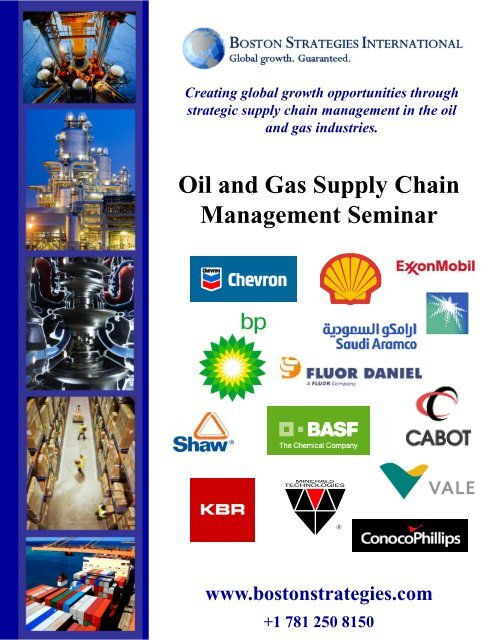 Oil and Gas Supply Chain Management workshop - Boston