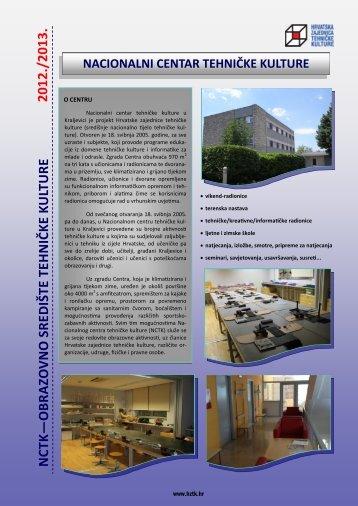 nacionalni centar tehničke kulture - Hrvatska zajednica tehničke ...