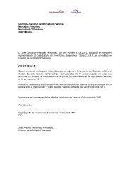 Comisión Nacional del Mercado de Valores Mercados ... - CNMV