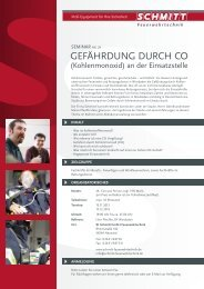 GEFäHRDUNG DURCH CO - Schmitt Feuerwehrtechnik