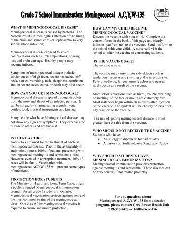Influenza Vaccine Consent Form
