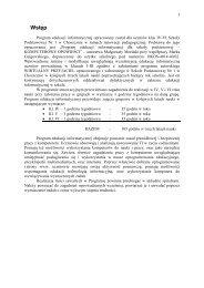 Proponowany w Szkole Podstawowej Nr1 w Choszcznie program ...