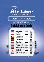 AirLive VoIP-111A / 120A Quick Setup Guide