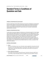 Standard Terms & Conditions of Quotation and Sale (PDF) - Sensata