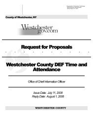 Request for Proposals Westchester County DEF Time and Attendance