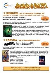 Descriptif et bulletin de réservation Noel 2012 - Cezam Bretagne