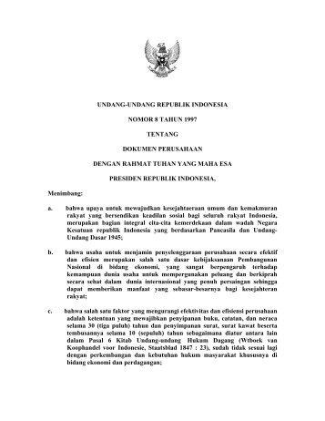 undang-undang republik indonesia nomor 8 tahun ... - Arsip UGM