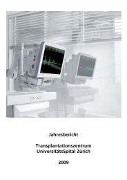 Deutscher Bericht 09 - Transplantation (USZ) - UniversitätsSpital ...