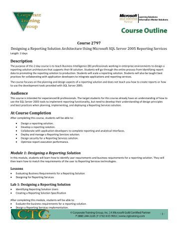 new ctg course outline template ctgtraining com new ctg course outline