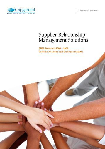 Supplier Relationship Management Solutions - Capgemini