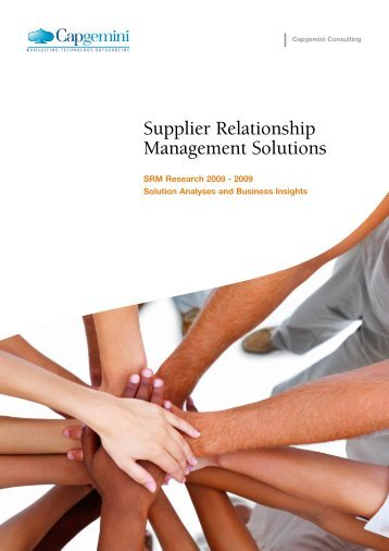 Supplier Relationship Management Solutions - Capgemini