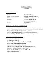 Curriculum vitae - Centro de Investigaciones Biológicas - Consejo ...