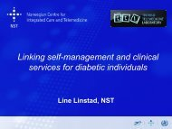 Linking self-management and clinical services for diabetic ... - ehtel
