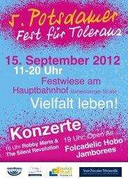 Flyer Fest für Toleranz
