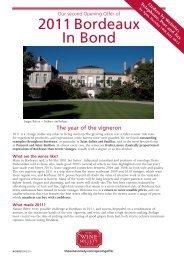 2011 Bordeaux In Bond - The Wine Society