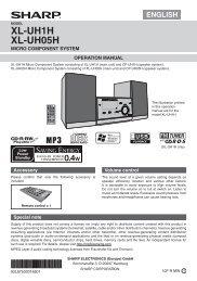 XL-UH1H/UH05H Operation-Manual GB