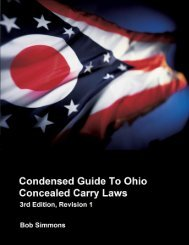 Condensed Guide To Ohio Concealed Carry Laws - Handgunlaw.us