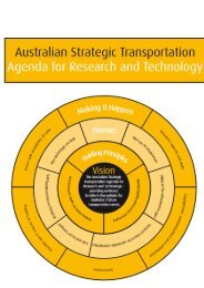 Australian Strategic Transportation - Bureau of Infrastructure ...