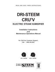 DRI-STEEM CRU®V ELECTRIC STEAM HUMIDIFIER Installation ...