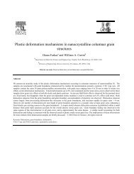 Plastic deformation mechanisms in ... - Brown University