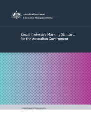 Email Protective Marking Standard for the Australian Government