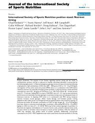 Nutrient timing. - Journal of the International Society of Sports Nutrition