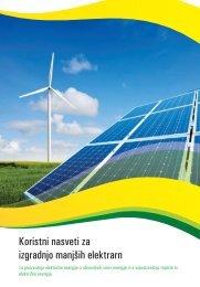 Priročnik za izgradnjo manjših elektrarn - NEP
