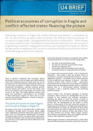 the political economy of corruption a Include the political economy of corruption and rent seeking in developing countries, industrial policy x international handbook on the economics of corruption.