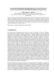 ANÁLISE DO DESEMPENHO DO PROCESSO DE ... - TECLIM