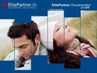 ElitePartner-Trendmonitor © Juli 2009 - ElitePartner-Akademie