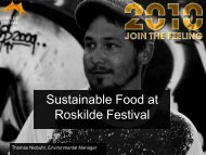 Sustainable Food at Roskilde Festival - Menu