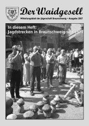 Waidgesell 2007 - Braunschweiger Jägerschaft e.V.