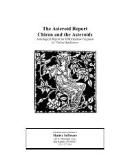 to read an Asteroids Report - Matrix Software