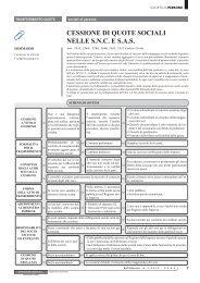 CESSIONE DI QUOTE SOCIALI NELLE S.N.C. E S.A.S. - Ratio