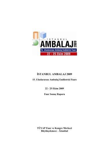 İSTANBUL AMBALAJ 2009 - Tüyap