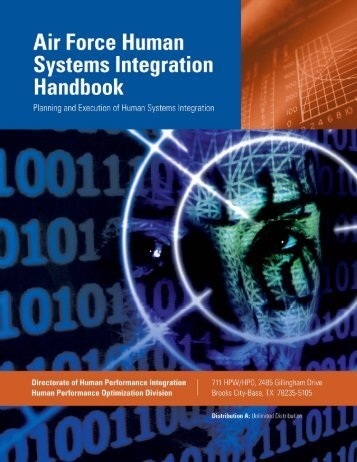 Air Force Human Systems Integration Handbook: - Wright-Patterson ...