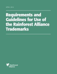 Use of Seal Guidelines - Rainforest Alliance