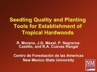 Seedling Quality and Planting Tools for Establishment of Tropical ...