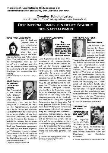 Der Imperialismus - ein neues Stadium des ... - DKP Leipzig