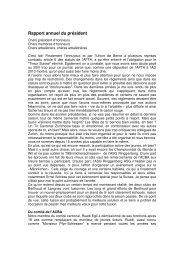 Jahresbericht des Präsidenten 2012 franz - BKAV