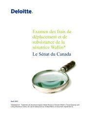 Rapport de Deloitte - Parlement du Canada
