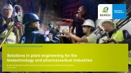 Solutions in plant engineering for the biotechnology and ... - Bilfinger