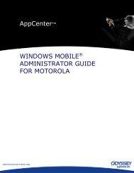 AppCenter™ WINDOWS MOBILE® ADMINISTRATOR ... - ScanTexas
