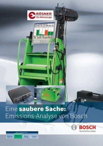 Emissions-Analyse von Bosch - Rösner KFZ Werkzeuge