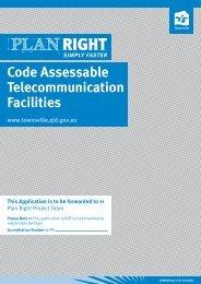 Code Assessable Telecommunication Facilities - Townsville City ...