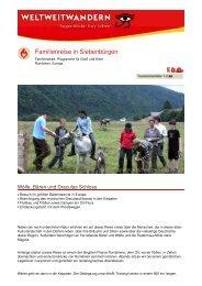 Familienreise in Siebenbürgen - Weltweitwandern