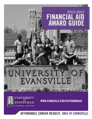 Financial Aid Award Guide - University of Evansville