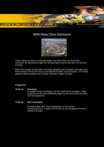 mini raceclinic klaas zandvoort - New MINI club